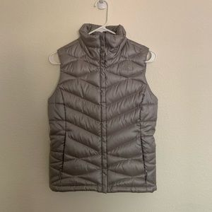 The North Face Silver Puffer Vest